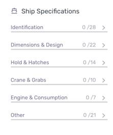inbox filters vessel particulars